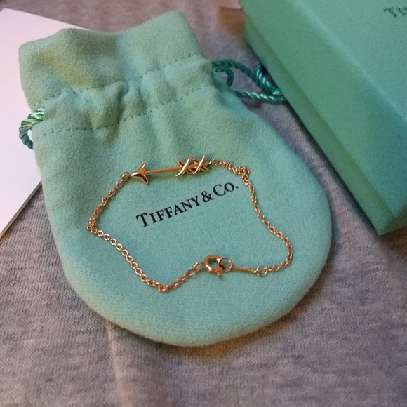 3603b284b Tiffany & Co. Jewelry | New Tiffany Co Rose Gold Arrow Bracelet ...